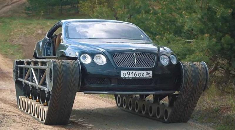 Mecânico russo transforma carro de luxo em tanque de guerra