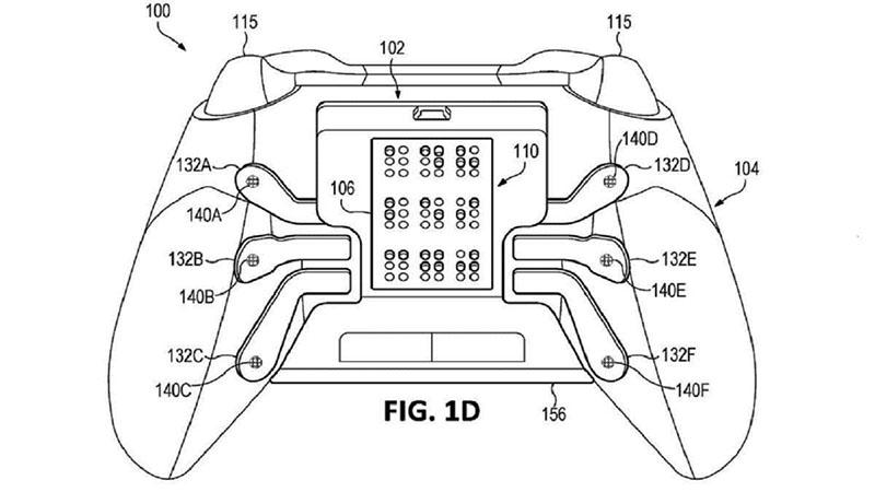 controle Xbox com suporte a braille