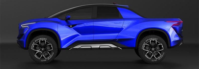 Picape Model P da Tesla pode chegar ao mercado com design espetacular