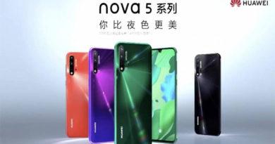 Nova 5 Pro, Nova 5i e Nova 5 são os novos smartphones da Huawei