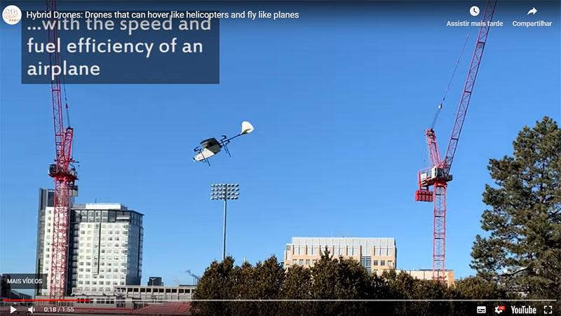 MIT desenvolve novo tipo de drone que plana e pairar no ar