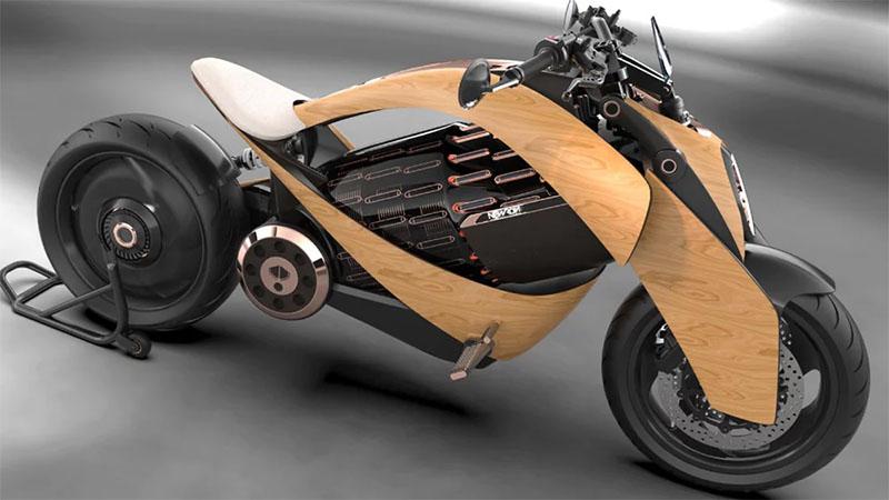 Empresa francesa vai lançar moto elétrica com carroceria em madeira