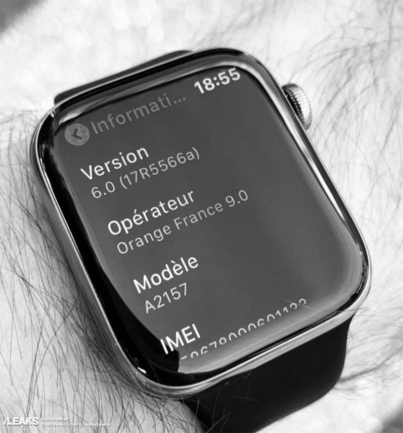 Imagem do Apple Watch Series 5 vaza na internet