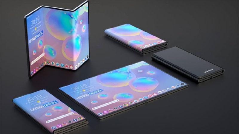 Patente da Samsung mostra smartphone dobrável com três telas