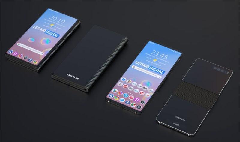 Samsung apresenta patente de Smartphone dobrável que pode ficar com a tela pra dentro ou pra fora
