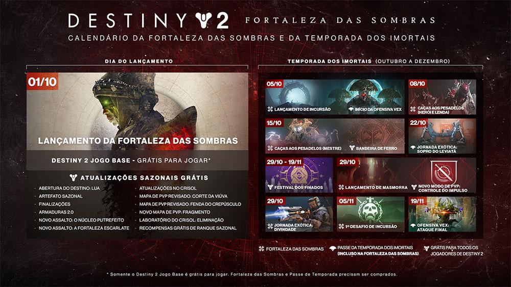 Calendário Destiny 2