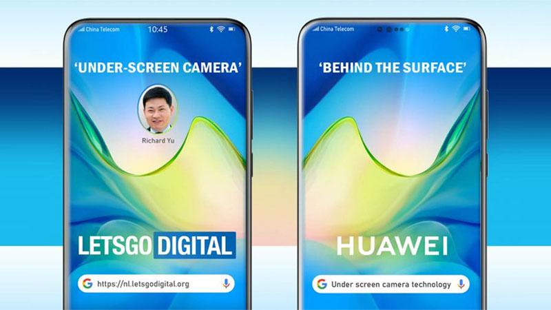 Huawei apresenta patente de smartphone com câmera sob a tela