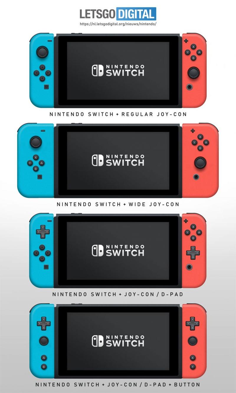 3 novos modelos de controles Joy-Cons para Nintendo Switch pode estar a caminho