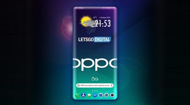 Oppo apresenta patente de smarphone com tela ultra curvada nos 4 lados