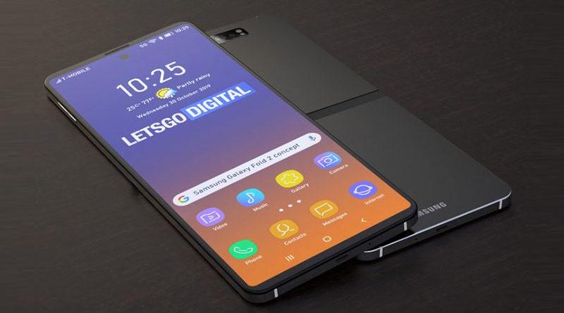 Samsung apresenta novo conceito do Galaxy Fold 2 com dobra horizontal