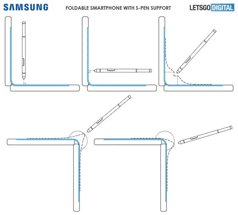 Samsung registra patente de Galaxy Note Fold com Caneta Stylus