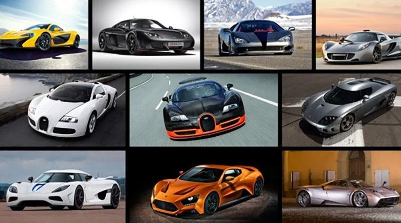 Veja os 10 carros mais rápidos do mundo
