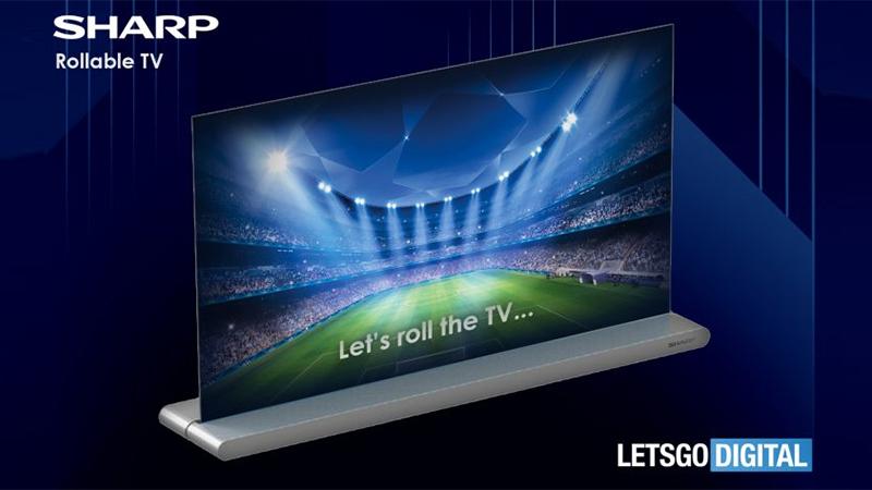 Sharp apresenta conceito de TV rolável com design compacto