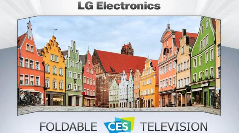 TV dobrável da LG está a caminho