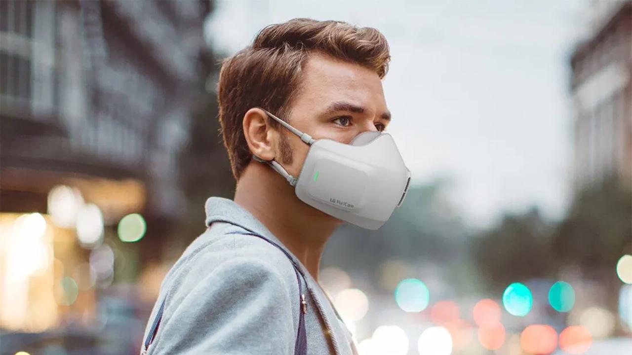 LG lança máscara facial com ventiladores integrados