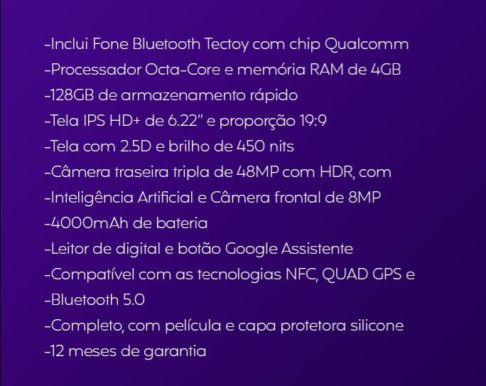 TecToy lança smartphone e inclui fones bluetooth na caixa