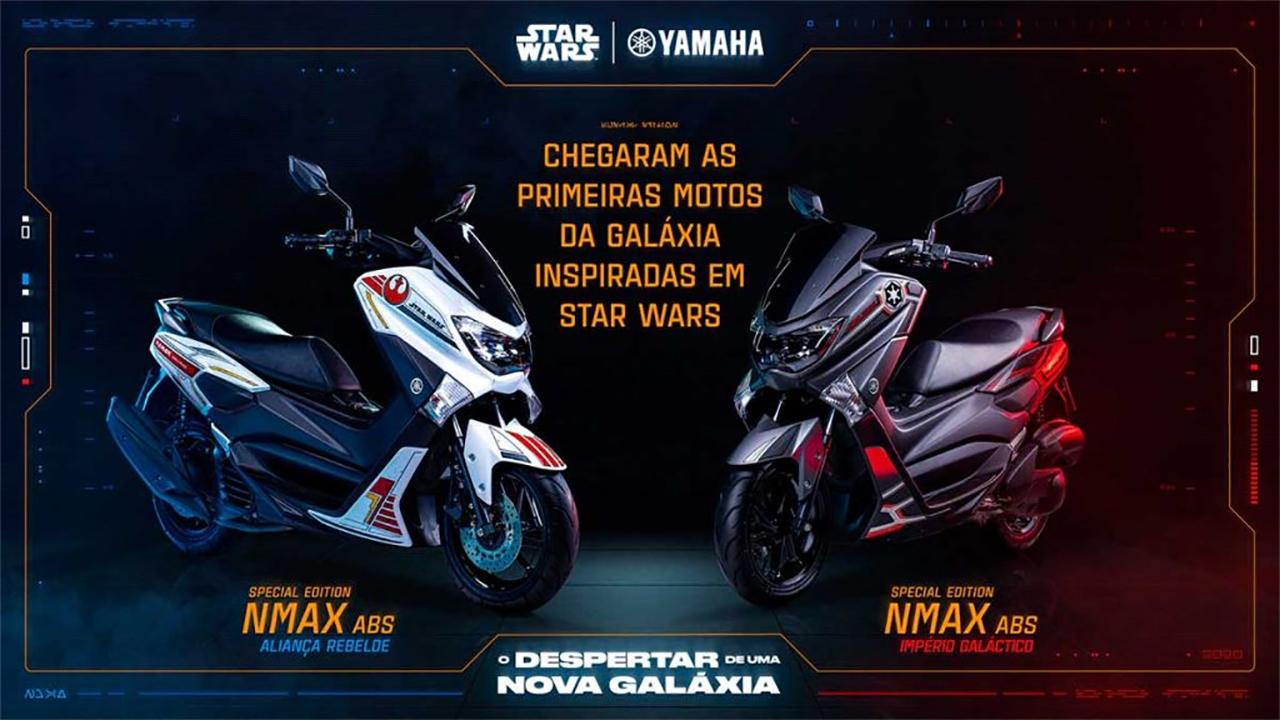 Yamaha lança Scooter NMax 160 em versão limitada com design inspirado na franquia Star Wars