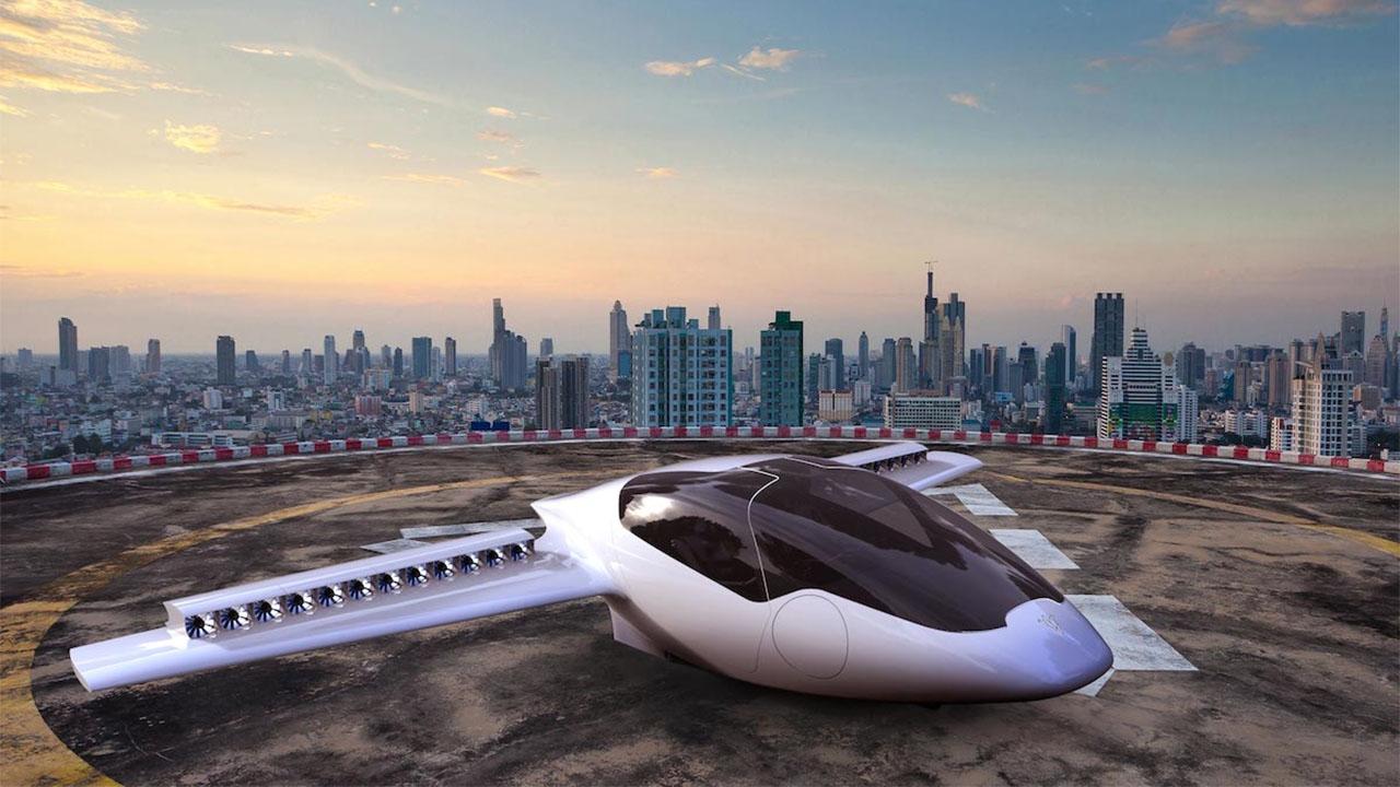 Avião elétrico decola e pousa verticalmente com zero emissão de combustível