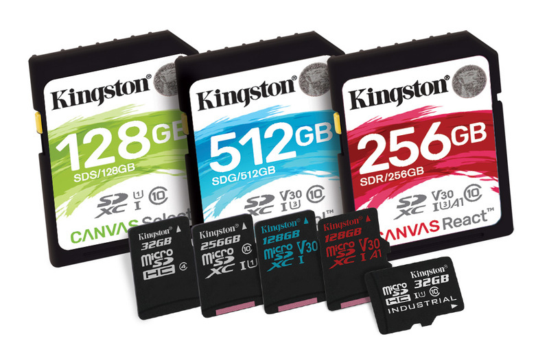 Kingston presenta la nuova serie di schede di memoria Canvas