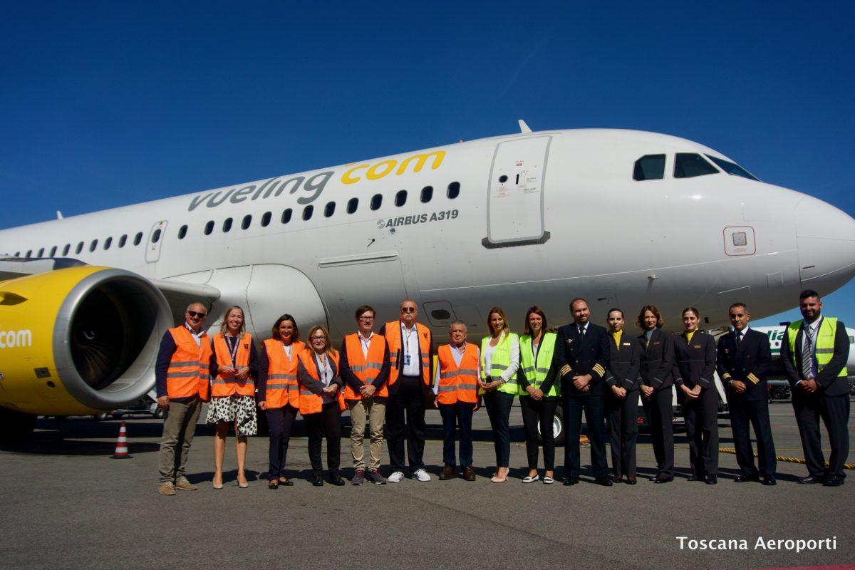 Vueling: quattro nuove rotte da Firenze e un terzo aereo A319 alla sua flotta