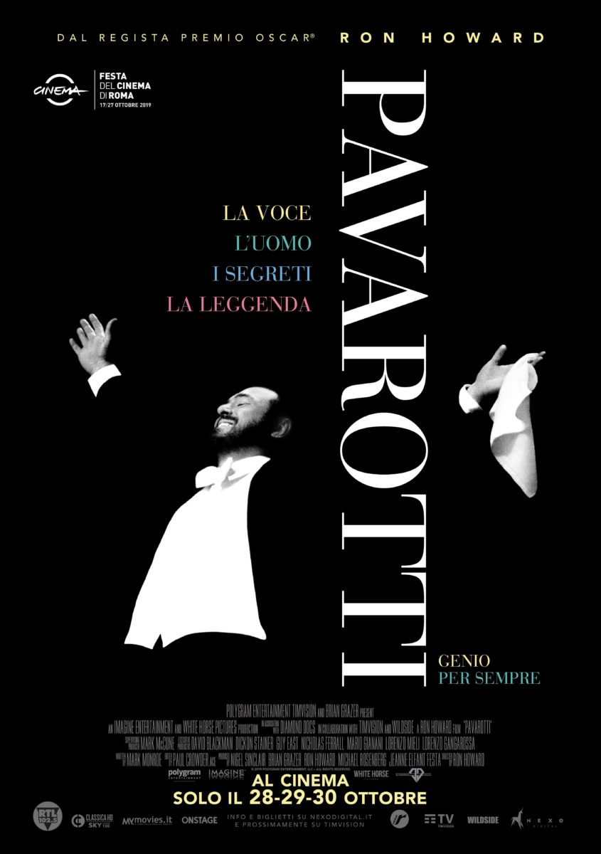 Pavarotti, l'opera di Ron Howard al cinema in Italia