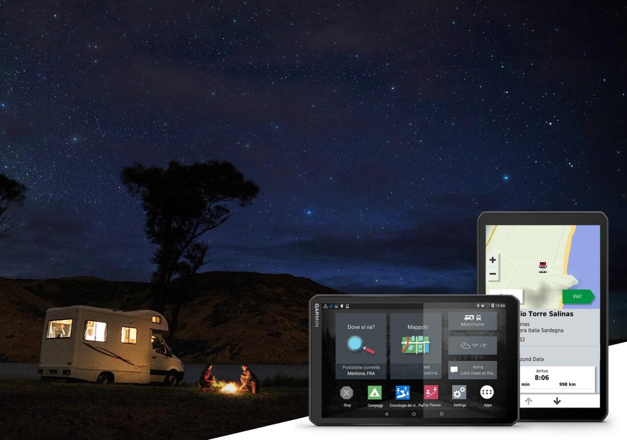 Camper 1090, il navigatore Garmin con lo schermo extra-large per la massima comodità e facilità di utilizzo durante la vacanza itinerante