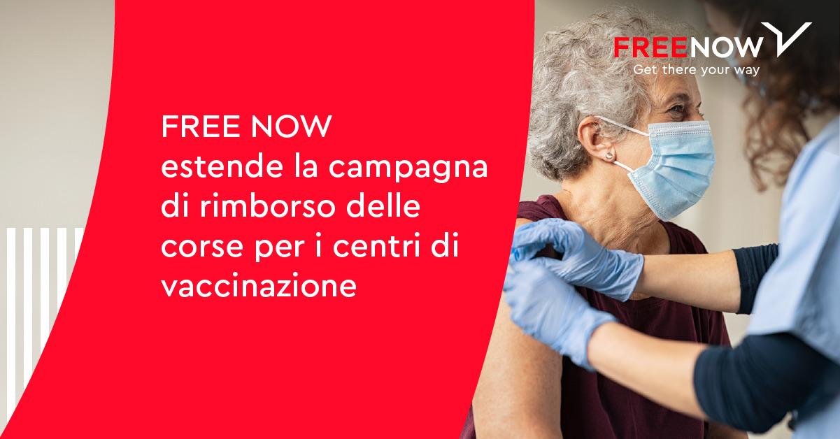 FREE NOW estende il rimborso del taxi per chi si vaccina
