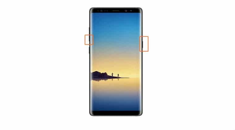 Samsung Galaxy Note 8: capturar pantalla
