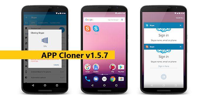 app cloner para clonar apps en android