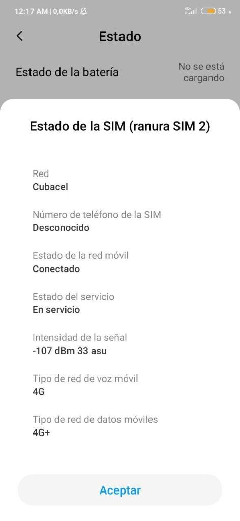 datos red movil 4G ETECSA redmi note 7