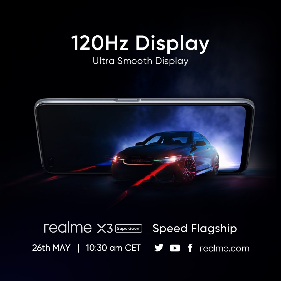 Pantalla 120Hz Realme X3 SuperZoom