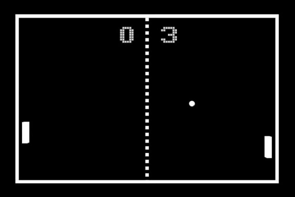 Juego Pong de Atari