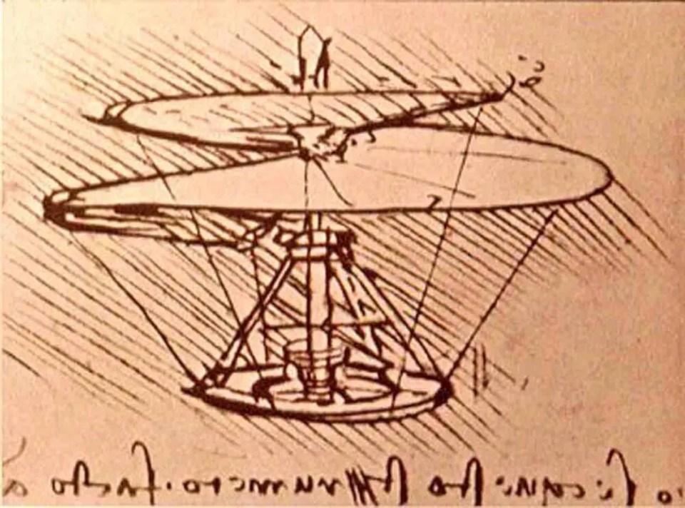 Da Vinci, otro de los inventores más famosos de la historia precursor del helicóptero