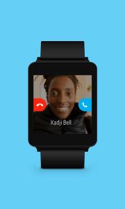 Ya puedes usar Skype en tu SmartWatch Android Wear