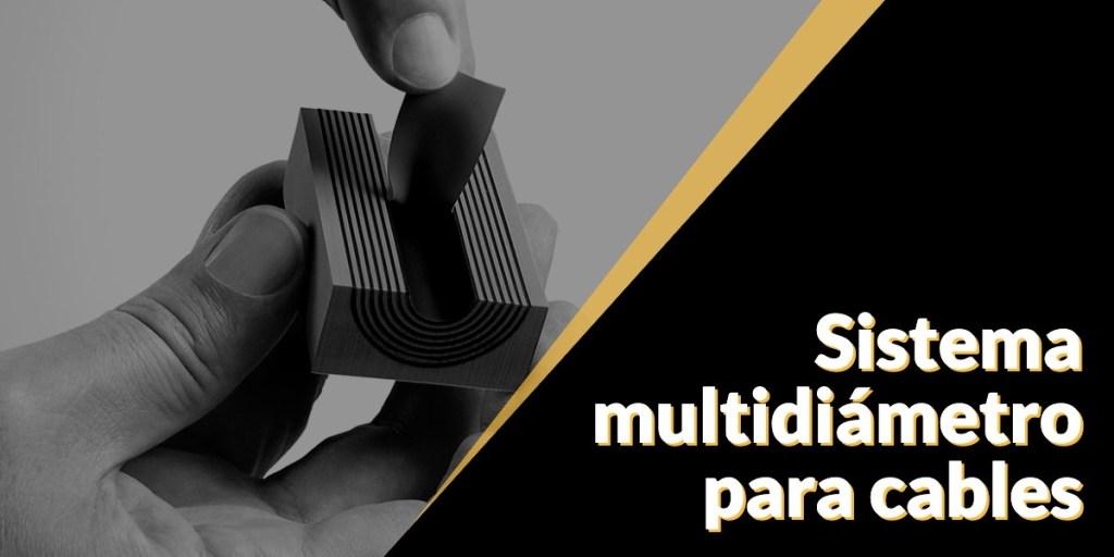 Sistema de sellado multidiametro para cables
