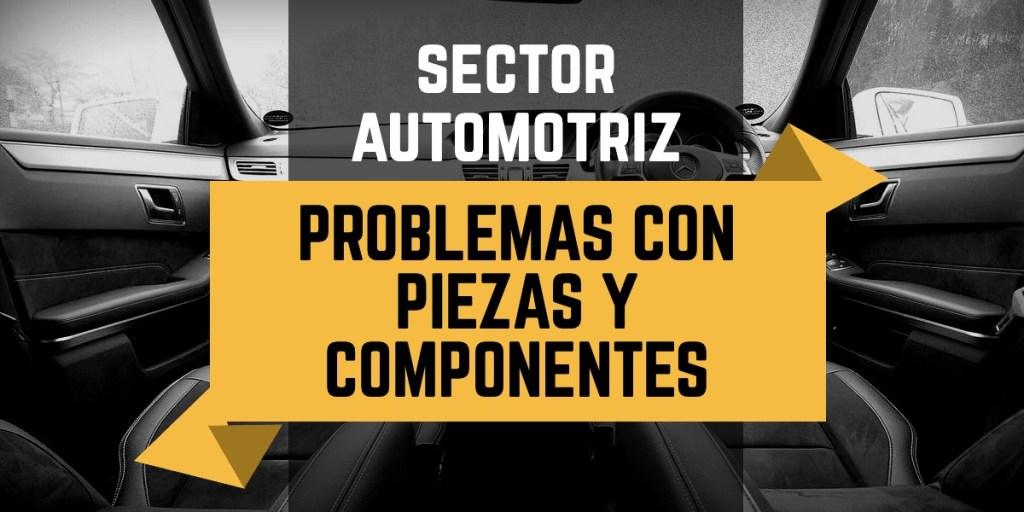 Piezas y componentes en el sector automotriz