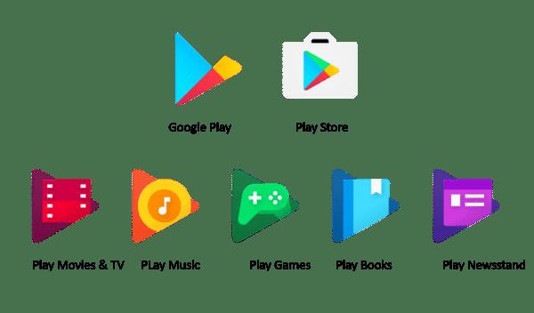 Nuevos iconos de las aplicaciones de Google Play