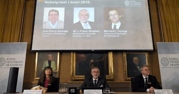 máquinas pequeñas  ganan el Nobel de Química