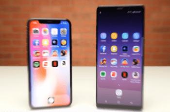 iPhone X vs Samsung Galaxy Note 8