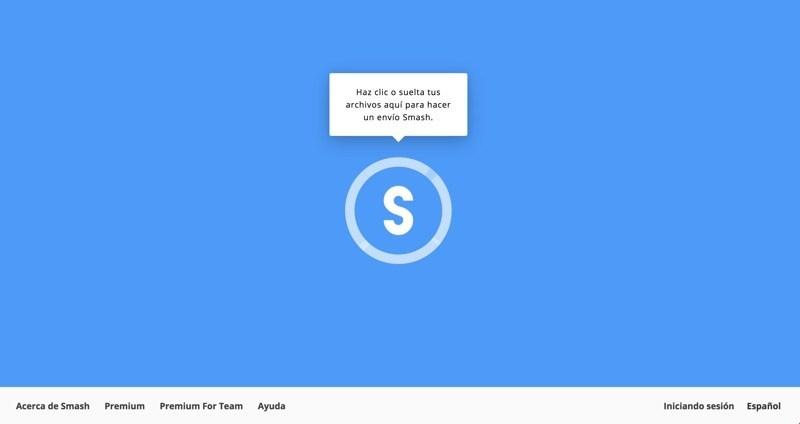 Smash, para enviar archivos a otras personas fácil y sin registro