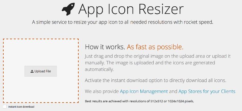 Herramienta online para redimensionar el ícono de tu app a todos los tamaños necesarios
