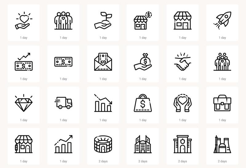 170  íconos planos en PNG o SVG para descargar gratis