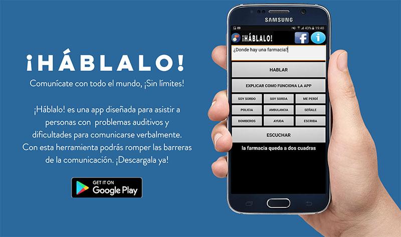 Háblalo, app para asistir a personas sordas y con problemas para expresarse verbalmente