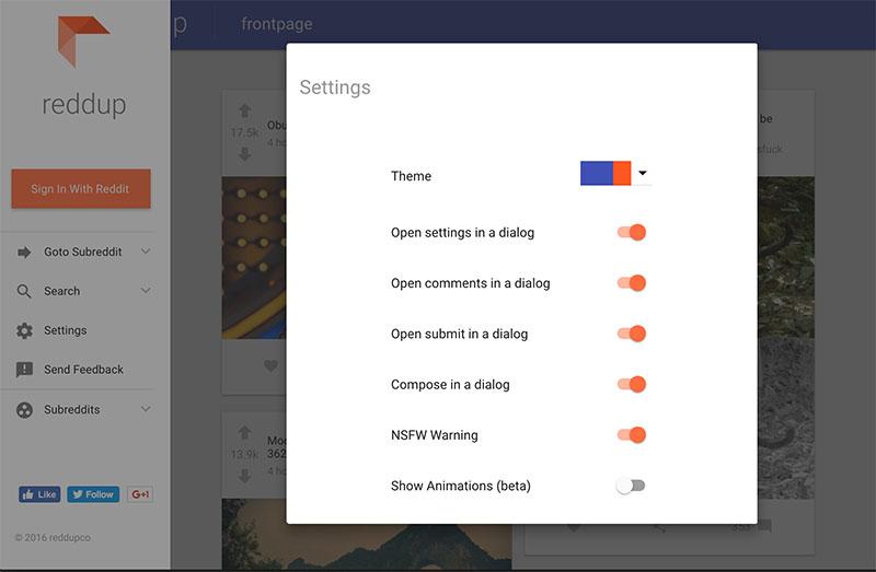 reddup, una versión de Reddit con nuevo diseño y fácil de usar