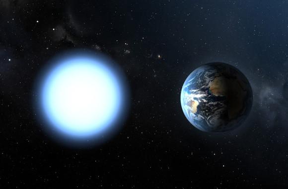 Las enanas blancas son remanentes estelares con un tamaño que puede ser similar al de la Tierra. / ESA/NASA