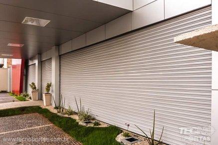 Portões Automáticos porta de enrolar no rj porta de aço automática em curitiba porta de aço automática em Recife porta de aço automática em Santo André Porta de Enrolar de Alumínio