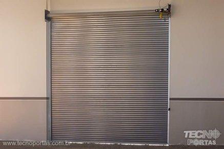 porta de rolo automática porta de rolo de aço portão de aço motorizado porta de enrolar em Presidente Prudente Porta de Enrolar de Alumínio