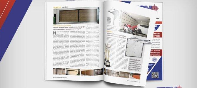 Modelo para garagens ocupa menos espaço que os convencionais basculantes ou de giro