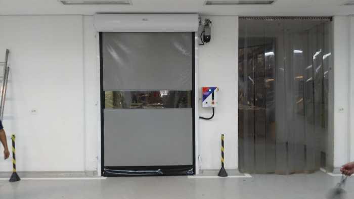 Kit Porta de PVC Porta Flexível de Polipropileno porta flexível de polipropeno Porta Rápida de Enrolar Portas Rápidas de Lona
