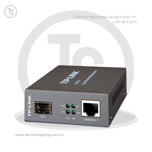 CONVERTIDOR MINI-GIGABIT RJ45 TP-LINK MC110CS